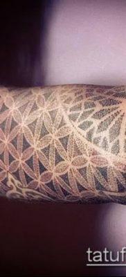 фото тату цветок жизни (Tattoo Flower of Li) (значение) – пример рисунка – 038 tatufoto.com