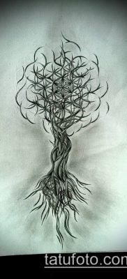фото тату цветок жизни (Tattoo Flower of Li) (значение) – пример рисунка – 040 tatufoto.com