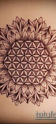 фото тату цветок жизни (Tattoo Flower of Li) (значение) – пример рисунка – 041 tatufoto.com