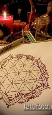 фото тату цветок жизни (Tattoo Flower of Li) (значение) – пример рисунка – 044 tatufoto.com