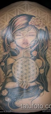 фото тату цветок жизни (Tattoo Flower of Li) (значение) – пример рисунка – 046 tatufoto.com