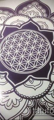 фото тату цветок жизни (Tattoo Flower of Li) (значение) – пример рисунка – 047 tatufoto.com