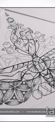 фото тату цветок жизни (Tattoo Flower of Li) (значение) – пример рисунка – 050 tatufoto.com