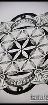 фото тату цветок жизни (Tattoo Flower of Li) (значение) – пример рисунка – 053 tatufoto.com