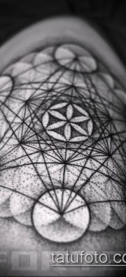 фото тату цветок жизни (Tattoo Flower of Li) (значение) – пример рисунка – 058 tatufoto.com