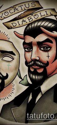 фото тату черт (devil tattoo) (значение) – пример рисунка – 007 tatufoto.com