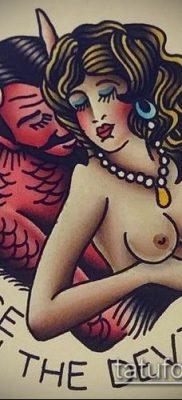 фото тату черт (devil tattoo) (значение) – пример рисунка – 015 tatufoto.com