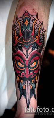фото тату черт (devil tattoo) (значение) – пример рисунка – 055 tatufoto.com