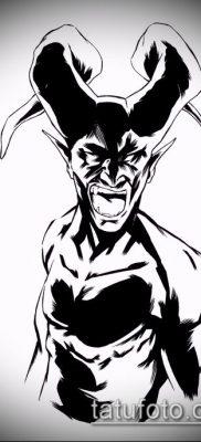фото тату черт (devil tattoo) (значение) – пример рисунка – 064 tatufoto.com
