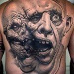 РЕАЛИСТИЧНЫЕ ТАТУИРОВКИ №966 - классный вариант рисунка, который успешно можно использовать для переделки и нанесения как реалистичные татуировки животных