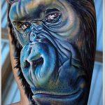 РЕАЛИСТИЧНЫЕ ТАТУИРОВКИ №204 - прикольный вариант рисунка, который хорошо можно использовать для преобразования и нанесения как реалистичные татуировки животных