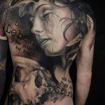 РЕАЛИСТИЧНЫЕ ТАТУИРОВКИ №778 - крутой вариант рисунка, который удачно можно использовать для преобразования и нанесения как реалистичные татуировки животных