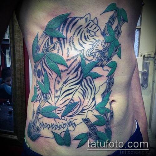 ТАТУИРОВКА БАМБУК №438 - классный вариант рисунка, который успешно можно использовать для переделки и нанесения как татуировка бамбук