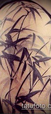 ТАТУИРОВКА БАМБУК №576 – интересный вариант рисунка, который удачно можно использовать для переделки и нанесения как татуировка бамбук