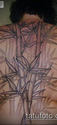 ТАТУИРОВКА БАМБУК №696 – достойный вариант рисунка, который хорошо можно использовать для переделки и нанесения как татуировка бамбук на руке