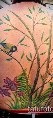 ТАТУИРОВКА БАМБУК №911 – крутой вариант рисунка, который хорошо можно использовать для переработки и нанесения как татуировка бамбук на руке