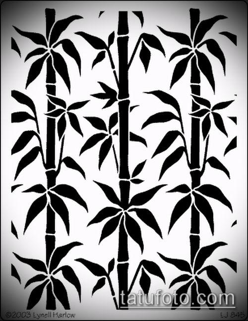 ТАТУИРОВКА БАМБУК №956 - достойный вариант рисунка, который легко можно использовать для преобразования и нанесения как татуировка бамбук на руке
