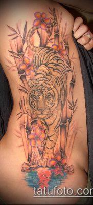 ТАТУИРОВКА БАМБУК №710 – интересный вариант рисунка, который легко можно использовать для переработки и нанесения как татуировка бамбук на руке