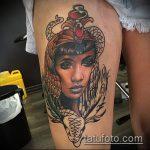 ТАТУИРОВКА КЛЕОПАТРА №893 - прикольный вариант рисунка, который легко можно использовать для доработки и нанесения как художественная татуировка клеопатра