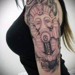 ТАТУИРОВКА КЛЕОПАТРА №645 - интересный вариант рисунка, который удачно можно использовать для переработки и нанесения как татуировка клеопатра