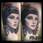 ТАТУИРОВКА КЛЕОПАТРА №164 - интересный вариант рисунка, который успешно можно использовать для переработки и нанесения как художественная татуировка клеопатра