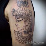 ТАТУИРОВКА КЛЕОПАТРА №860 - прикольный вариант рисунка, который удачно можно использовать для переработки и нанесения как художественная татуировка клеопатра