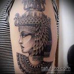 ТАТУИРОВКА КЛЕОПАТРА №35 - уникальный вариант рисунка, который успешно можно использовать для переделки и нанесения как художественная татуировка клеопатра