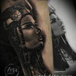 ТАТУИРОВКА КЛЕОПАТРА №58 - эксклюзивный вариант рисунка, который удачно можно использовать для переделки и нанесения как художественная татуировка клеопатра