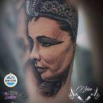 ТАТУИРОВКА КЛЕОПАТРА №967 - классный вариант рисунка, который успешно можно использовать для переделки и нанесения как художественная татуировка клеопатра