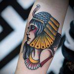 ТАТУИРОВКА КЛЕОПАТРА №709 - достойный вариант рисунка, который удачно можно использовать для преобразования и нанесения как татуировка клеопатра