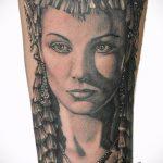 ТАТУИРОВКА КЛЕОПАТРА №218 - достойный вариант рисунка, который успешно можно использовать для переработки и нанесения как художественная татуировка клеопатра