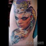 ТАТУИРОВКА КЛЕОПАТРА №836 - эксклюзивный вариант рисунка, который успешно можно использовать для переработки и нанесения как художественная татуировка клеопатра