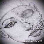ТАТУИРОВКА КЛЕОПАТРА №14 - уникальный вариант рисунка, который легко можно использовать для преобразования и нанесения как художественная татуировка клеопатра