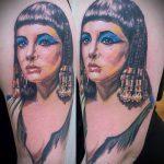 ТАТУИРОВКА КЛЕОПАТРА №183 - прикольный вариант рисунка, который легко можно использовать для преобразования и нанесения как художественная татуировка клеопатра