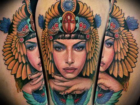 ТАТУИРОВКА КЛЕОПАТРА №460 - прикольный вариант рисунка, который легко можно использовать для переработки и нанесения как татуировка клеопатра