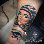 ТАТУИРОВКА КЛЕОПАТРА №877 - достойный вариант рисунка, который легко можно использовать для доработки и нанесения как татуировка клеопатра