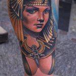 ТАТУИРОВКА КЛЕОПАТРА №540 - достойный вариант рисунка, который успешно можно использовать для переделки и нанесения как татуировка клеопатра