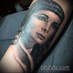 ТАТУИРОВКА КЛЕОПАТРА №952 - уникальный вариант рисунка, который удачно можно использовать для переработки и нанесения как художественная татуировка клеопатра