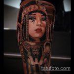 ТАТУИРОВКА КЛЕОПАТРА №453 - крутой вариант рисунка, который удачно можно использовать для переделки и нанесения как татуировка клеопатра