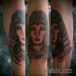 ТАТУИРОВКА КЛЕОПАТРА №678 - достойный вариант рисунка, который хорошо можно использовать для доработки и нанесения как татуировка клеопатра