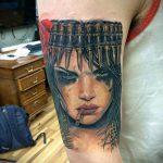 ТАТУИРОВКА КЛЕОПАТРА №856 - интересный вариант рисунка, который легко можно использовать для доработки и нанесения как художественная татуировка клеопатра
