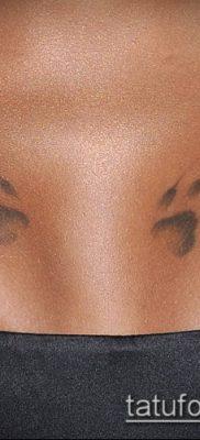 фото ТАТУИРОВКА ЛАПА (Tattoo) (значение) – пример рисунка – 001 tatufoto.com