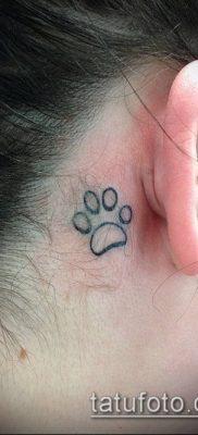 фото ТАТУИРОВКА ЛАПА (Tattoo) (значение) – пример рисунка – 006 tatufoto.com