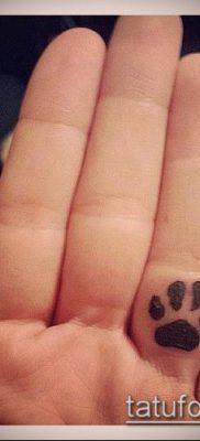 фото ТАТУИРОВКА ЛАПА (Tattoo) (значение) – пример рисунка – 010 tatufoto.com
