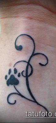 фото ТАТУИРОВКА ЛАПА (Tattoo) (значение) – пример рисунка – 014 tatufoto.com