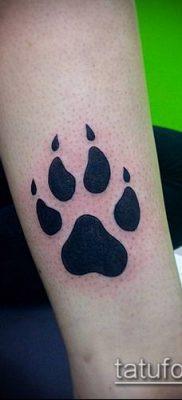 фото ТАТУИРОВКА ЛАПА (Tattoo) (значение) – пример рисунка – 020 tatufoto.com