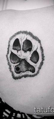 фото ТАТУИРОВКА ЛАПА (Tattoo) (значение) – пример рисунка – 023 tatufoto.com