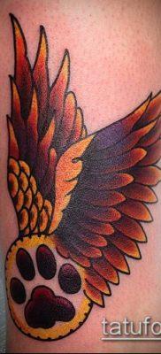фото ТАТУИРОВКА ЛАПА (Tattoo) (значение) – пример рисунка – 026 tatufoto.com