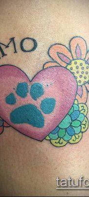 фото ТАТУИРОВКА ЛАПА (Tattoo) (значение) – пример рисунка – 029 tatufoto.com