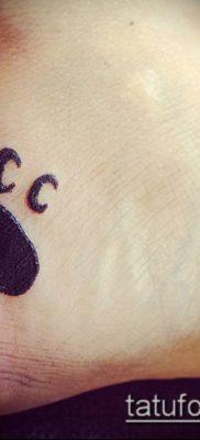 фото ТАТУИРОВКА ЛАПА (Tattoo) (значение) – пример рисунка – 034 tatufoto.com